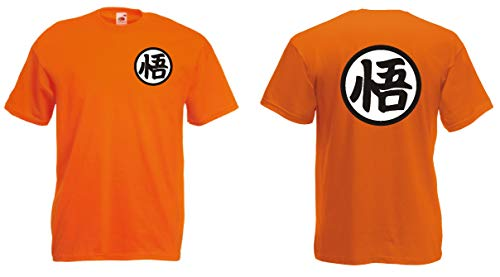 Generico t-Shirt Son Goku Dragon Ball Vegeta Cartoon-Transformation(M, Orange)