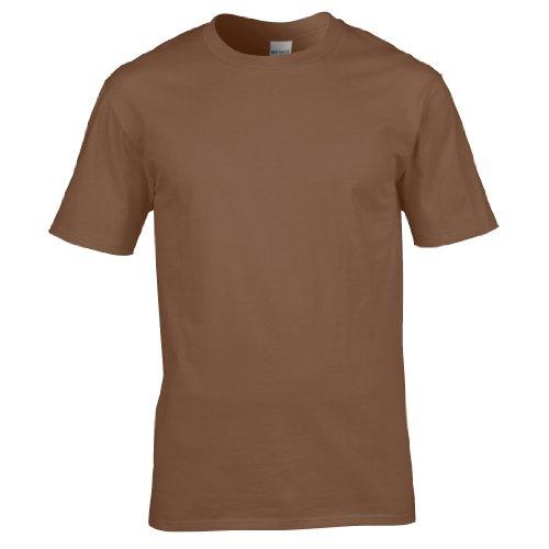 Gildan Premium T-Shirt für Männer (2XL) (Kastanie) XXL,Kastanie