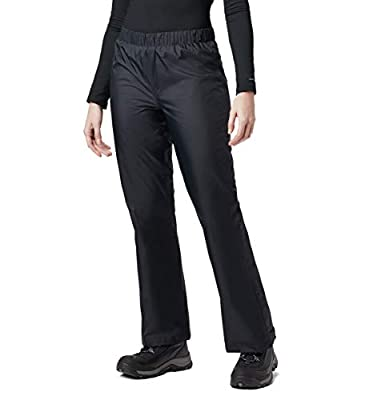 Columbia Women's Storm Surge Waterproof Rain Pant, Black, Medium x Short