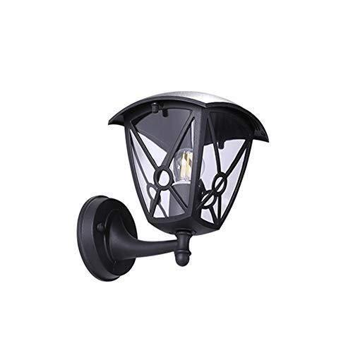 Apliques en forma de vela Luces al aire libre pared rústica luz al aire libre retro Lámpara impermeable al aire libre Negro de aluminio de la vendimia de la lámpara al aire libre de acrílico P