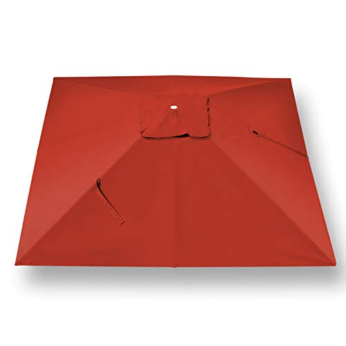 BenefitUSA Outdoor Canopy Top Cover Replacement Canopy for 10'x10' ROME Cantilever Patio Umbrella (Red)