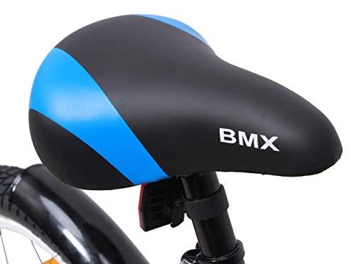 amiGO BMX Fun – Kinderfahrrad – 16 Zoll – Jungen – mit Rücktritt und Stützräder – ab 4 Jahre – Schwarz/Blau - 5