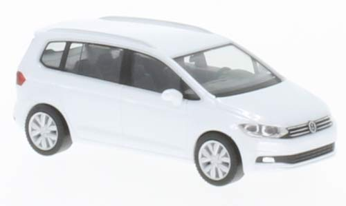 VW Touran, metallic-Weiss, 0, Modellauto, Fertigmodell, Herpa 1:87