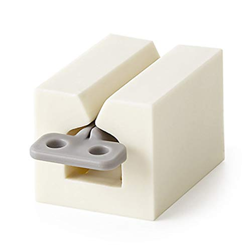 RG-FA - Dispensador de pasta de dientes multifunción de plástico para baño blanco