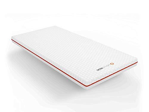 Matratzenauflage OctaSpring 140 x 190 cm mit 1 Kissen Premium | Technologie OctaSpring | 8 x mehr atmungsaktiv / 3 Grad kühler für einen längeren und tieferen Schlaf