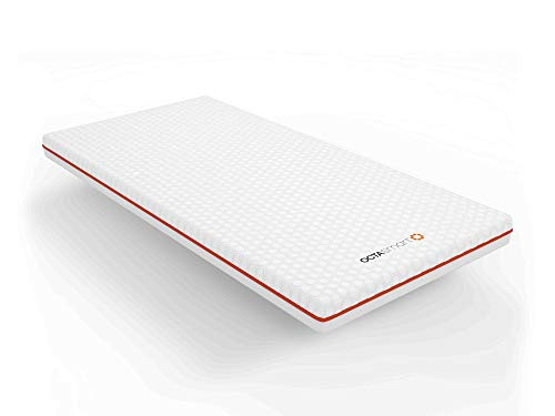 Matratzenauflage, 140 x 190 cm, mit 1 Premium-Kissen | OctaSpring-Technologie | 8 x mehr Atmungsaktivität / 3 Grad kühler für schnelleren und längeren Schlaf