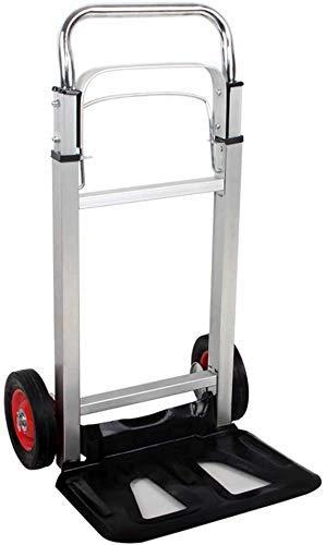 XUSHEN-HU Carretilla de mano portátil multifunción, resistente, plegable, carrito de almacenamiento industrial para interiores y exteriores
