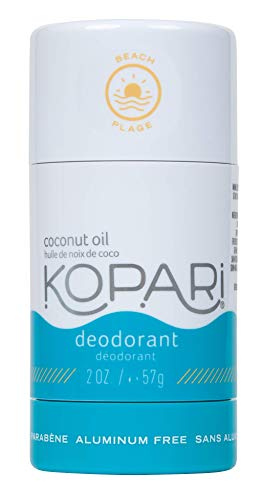 Kopari Aluminum-Free Deodorant Beach | Non-Toxic, Paraben Free, Gluten Free & Cruelty Free Men's and Women's Deodorant | Made with Organic Coconut Oil | 2.0 oz