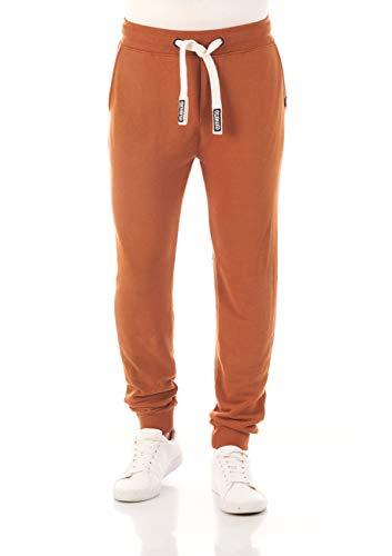 riverso Pantalon de survêtement RIVTim pour Homme - Pantalon de Jogging - Pantalon de Sport - Pantalon de Loisirs - Uni - Coton - Noir, Gris, Rouge, Marron, Vert, Bleu - Marron - X-Large