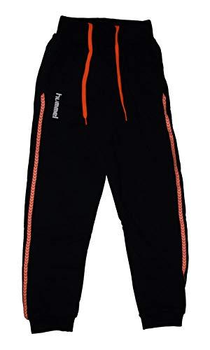 Hummel Karma Cotton Sweat Pant, Black/orange, Größe:152 (12)