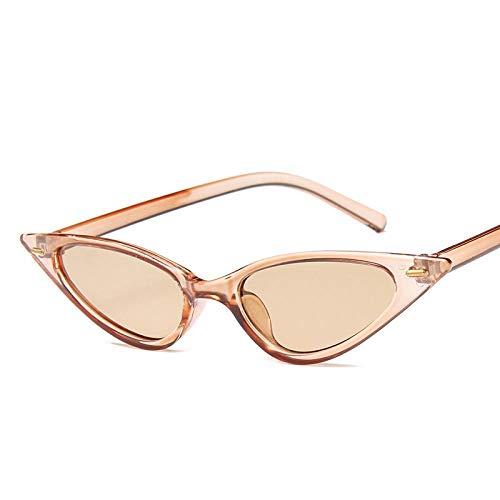 YANPAN Gafas De Sol De Montura Pequeña Americana Uñas De Arroz Gafas Salvajes Tendencia Gafas De Sol De Calle Té con Montura De Té