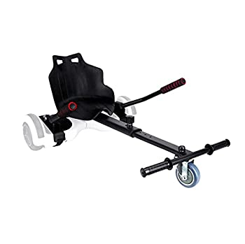 """HMLWMJ Hoverboard Seat Attachment Accessories for 6.5"""" 8"""" 10"""",Hover Board go Kart with Adjustable Frame Length Compatible with Most Hoverboard Self Balancing Scooters for Kids and Adults Black"""