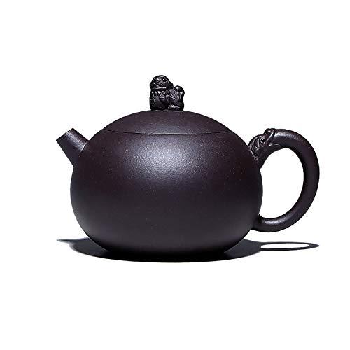Purple Clay Pot Dark Green Clay Pure Handmade Household Teapot Tea Set Golden Ratio Teapot,5