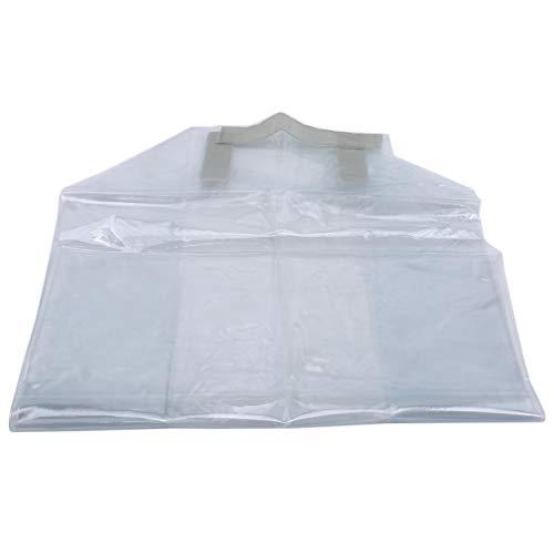 unknow Padokls Klare Kofferabdeckung Tragbarer transparenter Kunststoff-Gepäckmanschettenschutz,53 * 30 * 65 cm