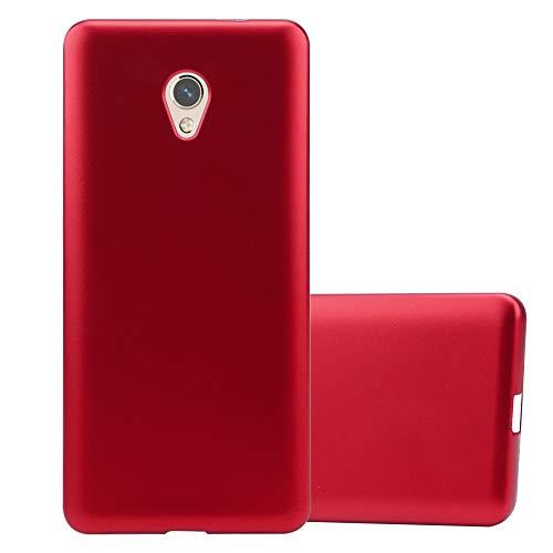 Cadorabo Funda para ZTE Blade V7 en Metallic Rojo - Cubierta Proteccíon de Silicona TPU Delgada e Flexible con Antichoque - Gel Case Cover Carcasa Ligera
