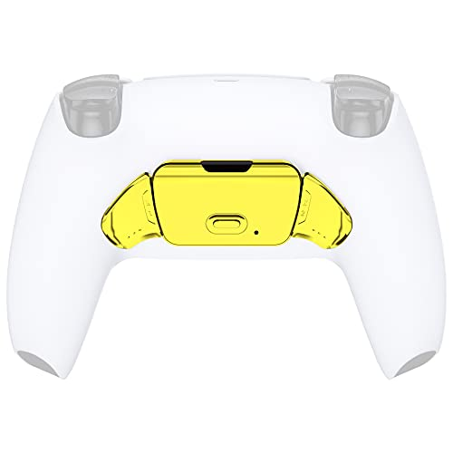 Chrome Gold Replacement Redesigned K1 K2 Back Button Housing Shell for PS5 Controller eXtremerate Rise Remap Kit - Controller & Rise Remap Board NOT Included
