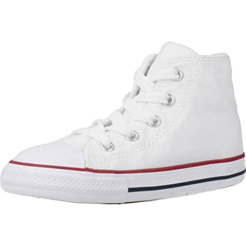Converse Toddler White All Star Hi Trainers-UK 2 Infant