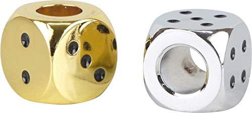 LK Trend & Style 2 x Glutkiller Würfel Chrom + Gold für Aschenbecher Gluttöter Glutlöscher beide Seiten offen