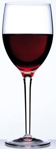 Luigi Bormioli Weingläser 390 ml Parma, hochwertiges Stielglas für Rotwein, bleifreies Kristallglas aus Italien (Farbe: Transparent), Menge: 1 x 4 Stück