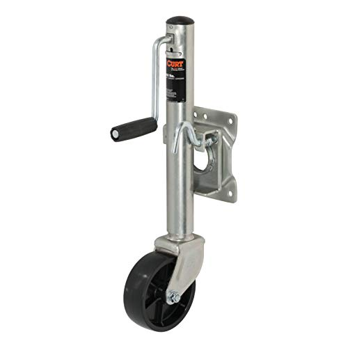 CURT 28100 Marine Boat Trailer Jack with 6-Inch Wheel 1,000 lbs, 10-1/2 Inches Vertical Travel