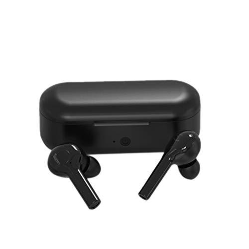 Marxways Bluetooth Kopfhörer, Kabellose Kopfhörer mit Bluetooth 5.0 TWS Noise Cancelling Headset In Ear Kopfhörer mit Mikrofon und 30H Spielzeit, Ladekästchen mit Wasserdicht (Schwarz)