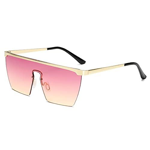 AMFG Gafas De Sol De Tendencia De Moda Gafas De Una Pieza Hombres Y Mujeres Gafas De Sol Película Marina (Color : E)