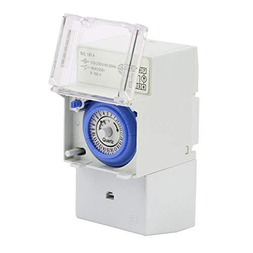 Interruptor temporizador AC 110-230V, temporizador mecánico analógico SUL181H 24H, interruptor horario controlador manual/automático, temporizador mecánico