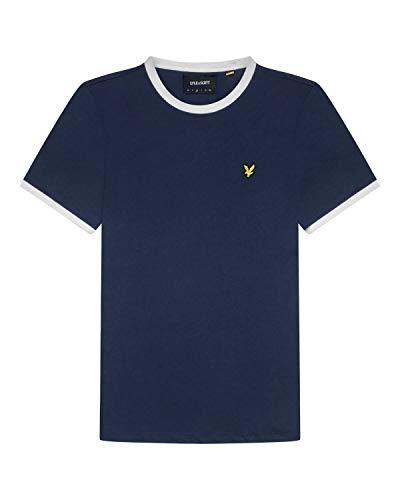Lyle and Scott Ringer T-Shirt Herren dunkelblau/weiß, L