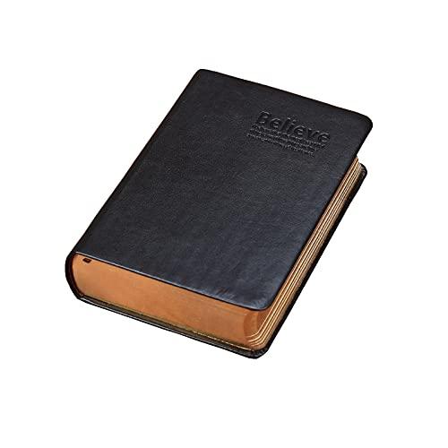 RAEADLIFE B6 - Cuaderno de piel para bocetos, diario de viaje, para escribir, estilo vintage, organizador, bloc de notas, color negro
