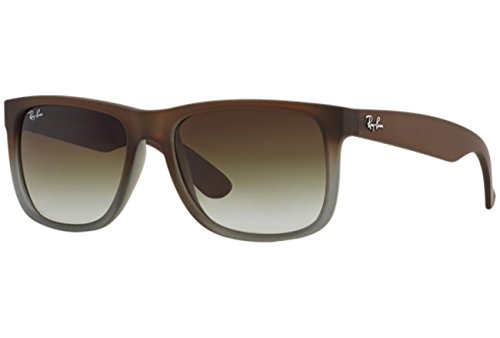 Ray-Ban RB4165 Justin Classic Sonnenbrille Large (Herstellergröße: 55), Rubber brown