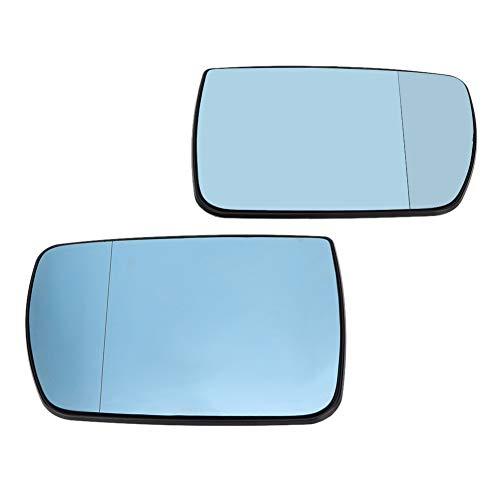 Auto Qiilu sinistra/destra porta specchietto retrovisore riscaldato blu vetro per E53 X5 99-06