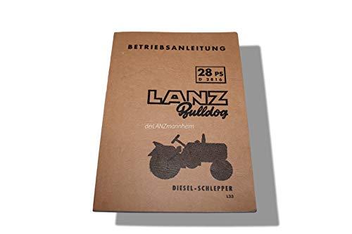 Betriebsanleitung D2416, D2816 Lanz Bulldog