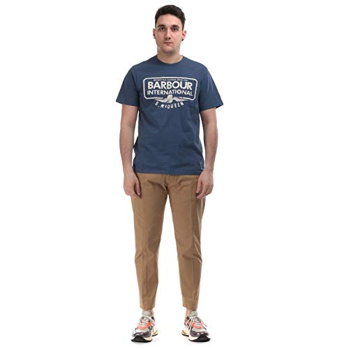 Barbour International Steve McQueen Combine Whased Ink T-Shirt Small