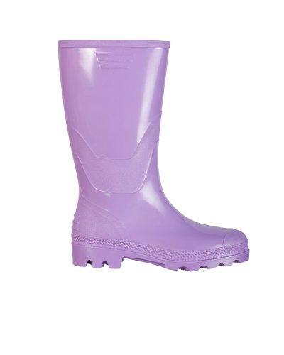 Rainwear-Shop fliederfarbene lila Damengummistiefel Regenstiefel PVC Gummistiefel (41)