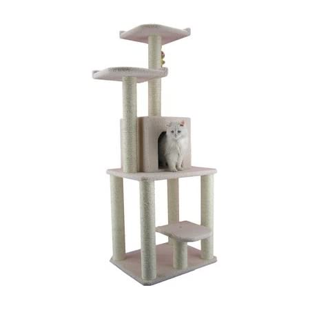 Armarkat 62 Inch Cat Tree Model B6203 Ivory Cat Tower Pet Supplies