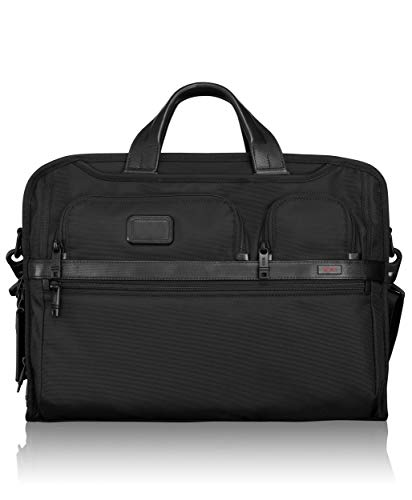 Tumi Alpha 2 Compact Large Screen Laptop Brief, Black (Black) - 026114