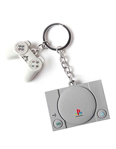 Difuzed Unisex Console & Controller 3D Rubber Keychain Schlüsselanhänger, grau, One size