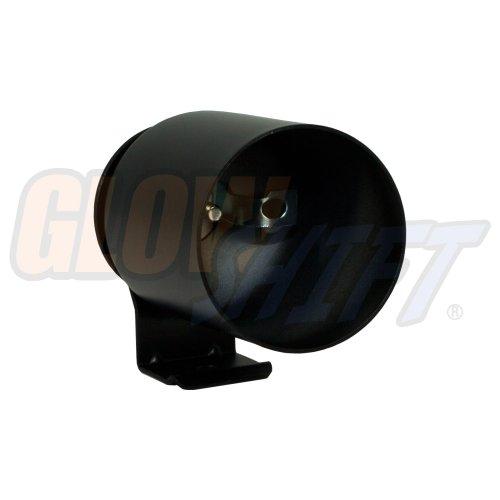 "GlowShift Universal Black Single Gauge Metal Dashboard Pod - Fits Any Make/Model - Mounts (1) 2-1/16"" (52mm) Gauge to Vehicle's Dash"