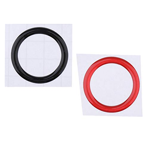 IPOTCH Car Auto Engine Start Stop Button +Black Cover Key Switch Ring Trim Sticker For E70
