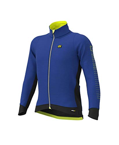 Ale Chaqueta Graphics PRR Thermo Road DWR, BLU Light-Giallo Fluo, X-Large