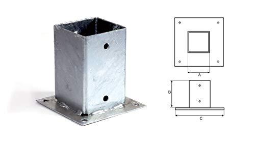 Pfostenanker Pfostenfuß Balkenfuß Balkenanker - KOP (1, KOP1-71/150 mm)