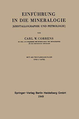 Einführung in die Mineralogie: Kristallographie Und Petrologie (German Edition)
