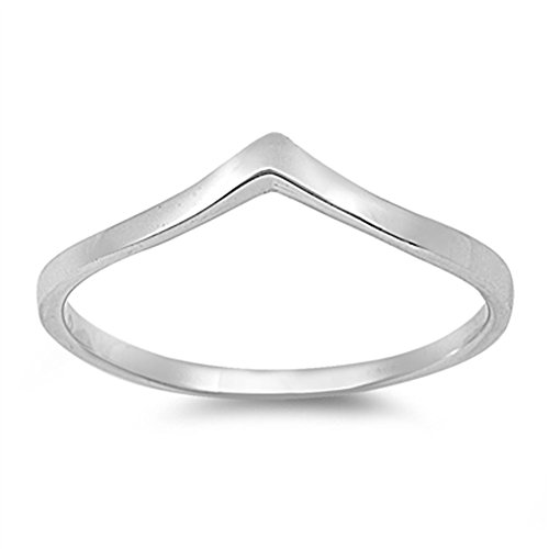 Chevron Pointed Arrow Cute Ring New .925 Sterling Silver Band Size 9