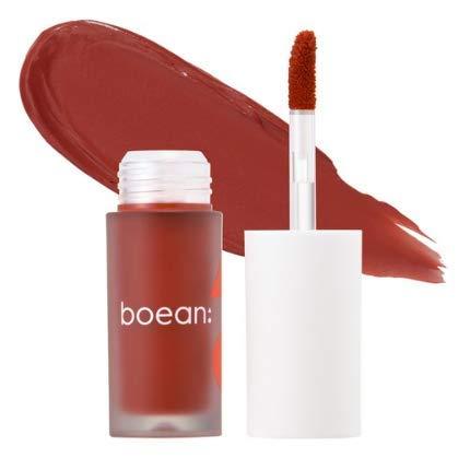 BOEAN Velvet Fit Lip Tint (Kiss of mood) Light Velvet Texture Fixed Persistence Lips Moisturized Soft Brush Type Vivid color, 1 Count