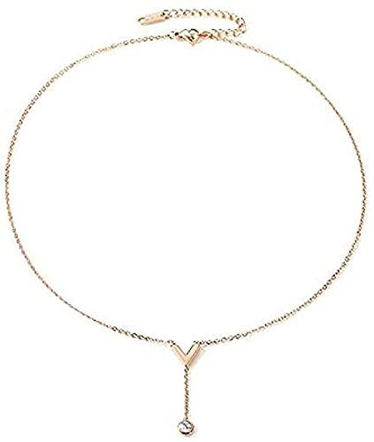 ZGYFJCH Co.,ltd Collares Collar de Moda para Mujer Cuerda de clavícula Temperamento Simple con Collar de borlas