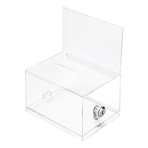 Amazon Basics - Urna de votación transparente con cerradura