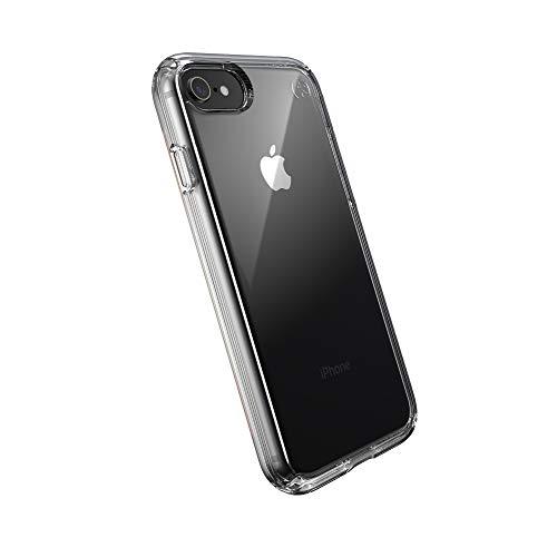 Speck 136212-5085 Presidio Clear - Funda para iPhone SE 2020/8/7 con Revestimiento MICROBAN, Transparente, Multicolor