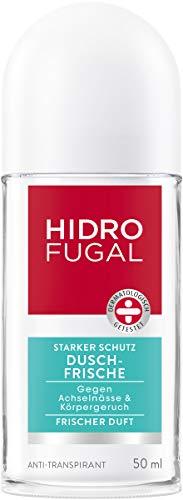 Hidrofugal Dusch-Frische Roll-On, Deo-Roller mit Frischeduft und antibakteriellem Schutz, Anti-Transpirant Deo schützt gegen Schweiß, 5er-Pack (5 x 50 ml)