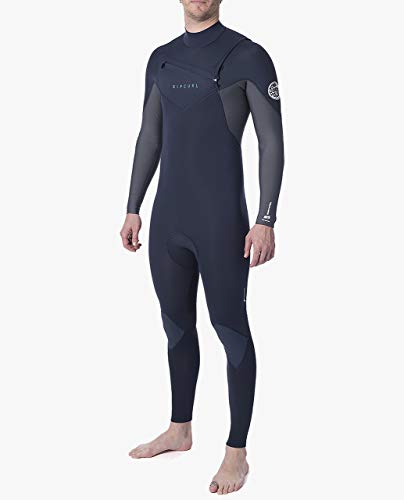 Rip Curl Mens Dawn Patrol Warmte 4/3mm Wetsuit met Chest Zip - Easy Stretch Flash-voering