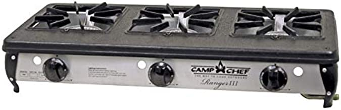Camp Chef Ranger III Cooking System, 3 Cast-Aluminum Burners, Cooking Dimensions: 15.5 in x 29 in